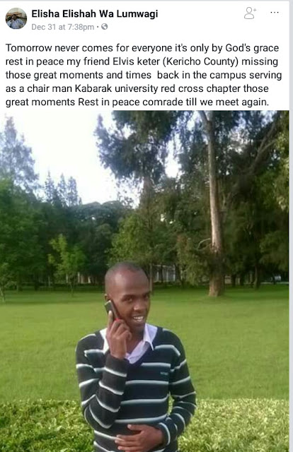 Photos: 23-year-old fresh Kenyan graduate drowns after falling into a river while taking selfies