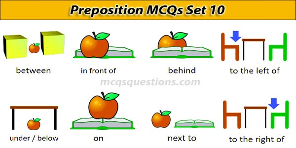 English Preposition MCQ With Answers Set 10