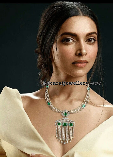 Deepika Padukune Tanishq Diamond Set