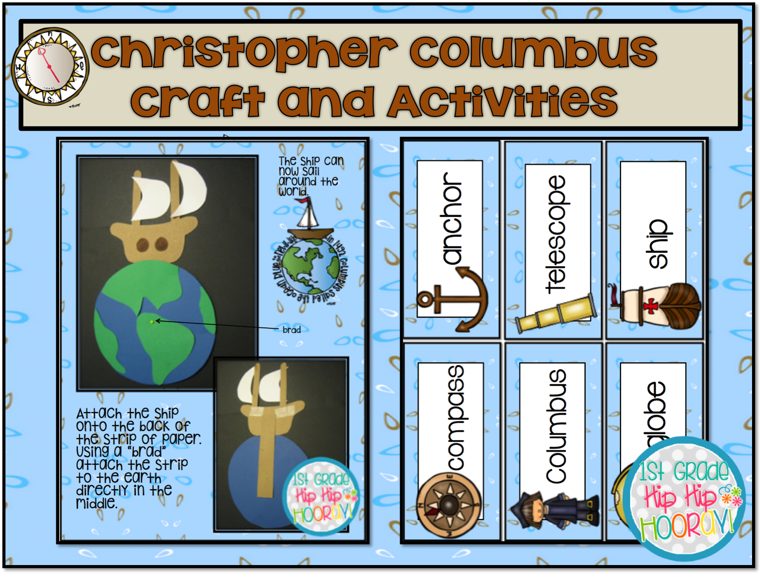 1st Grade Hip Hip Hooray Who Was Christopher Columbus