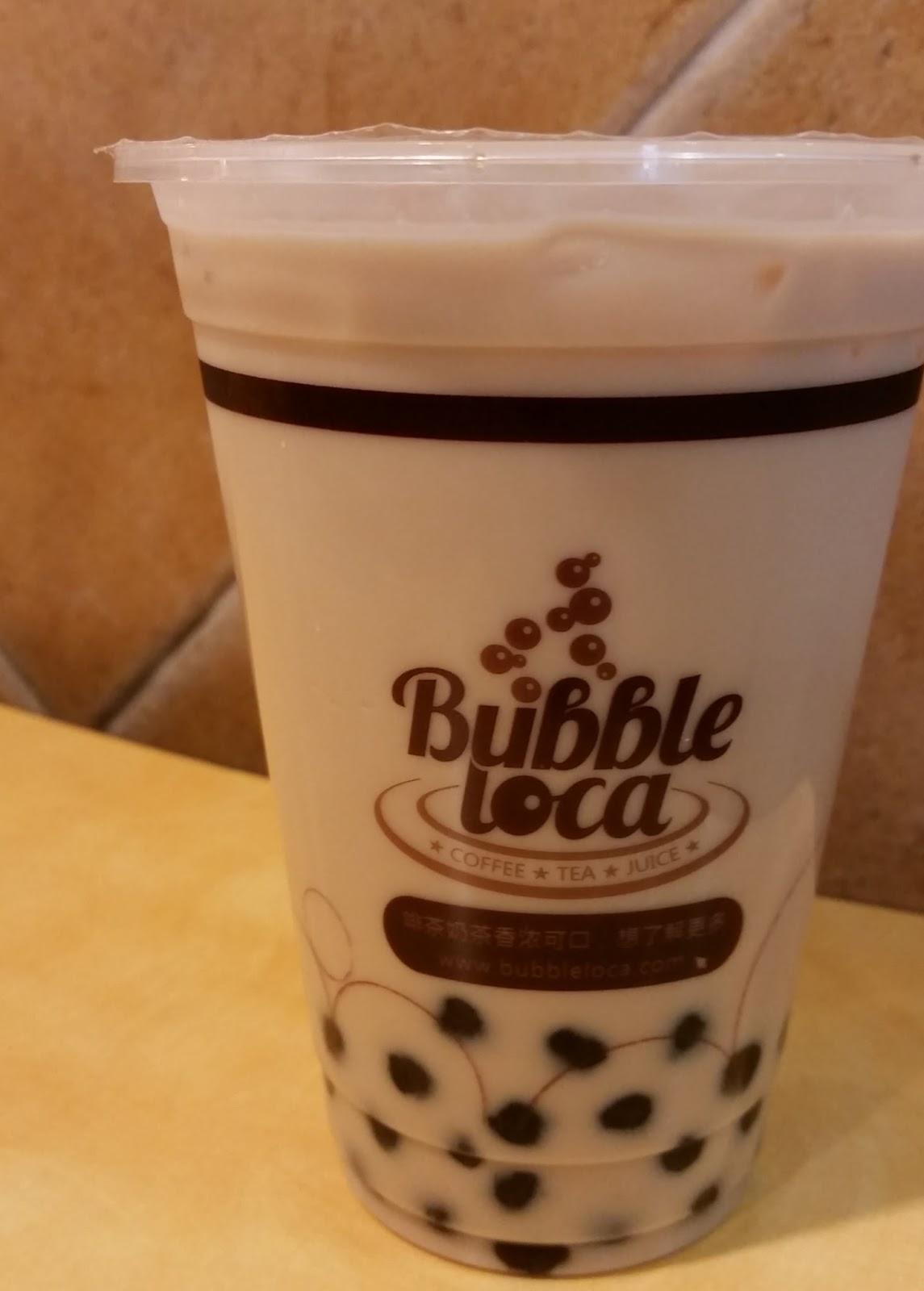 Milk tea with boba