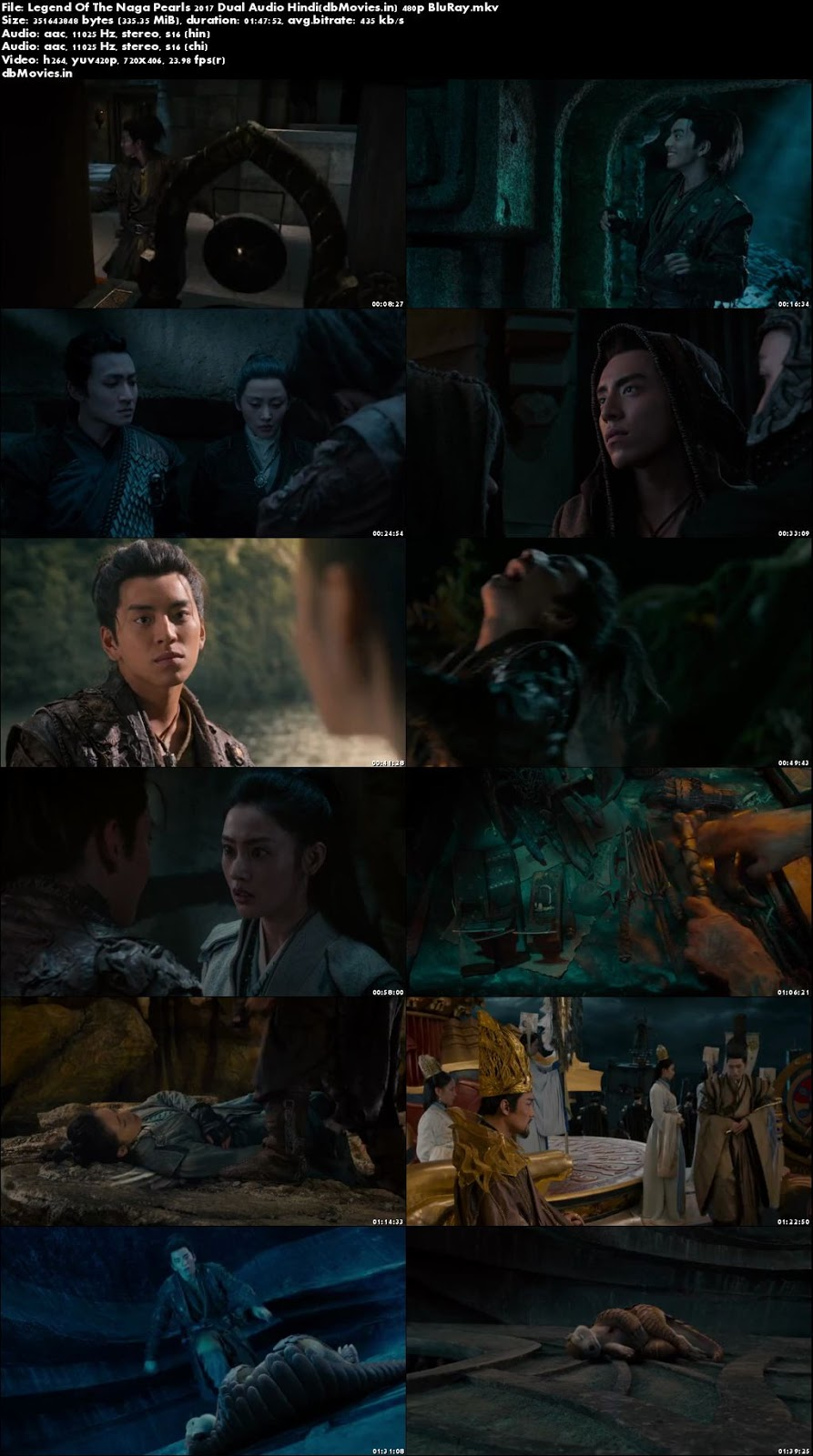 Poster Legend Of The Naga Pearls 2017 Full Movie Download Dual Audio 300MB