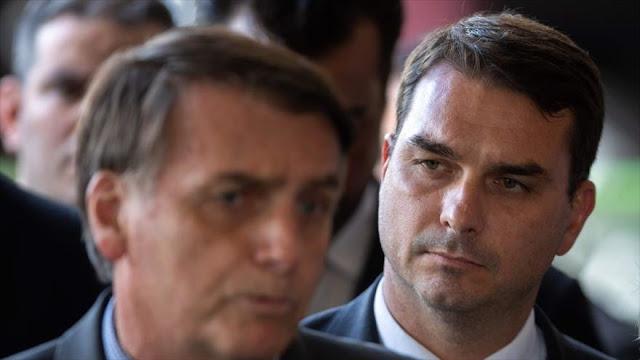 Detectan depósitos sospechosos en cuenta del hijo de Bolsonaro