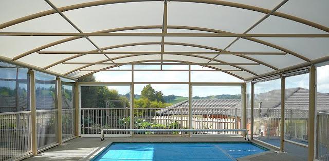 awning tenda kolam renang