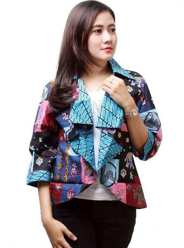Model Baju Batik Kombinasi Modern Terbaru