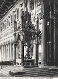 Three Roman Altars and Ciboria with their Pre-Conciliar Altar Ornaments