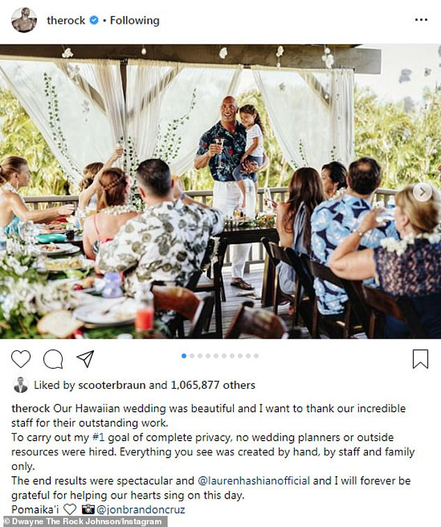Amazing pictures from Dwayne ' The Rock ' Johnson Hawaiian wedding ceremony  (Photos)  -olowublog