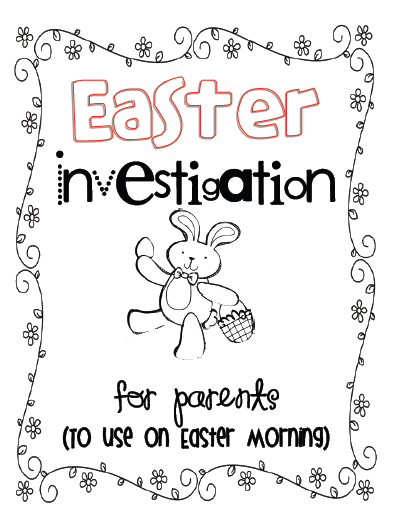 Sarah's First Grade Snippets: Easter Scavenger Hunt At Home!