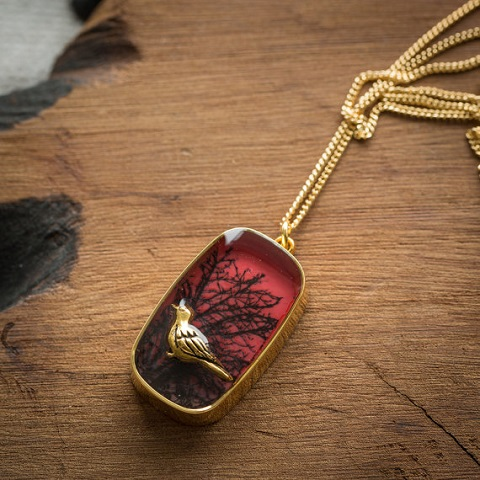 Nature Inspired Resin Jewelry by The Blue Brick