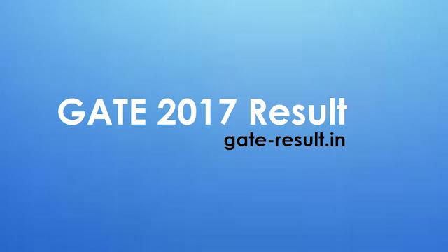 gate result 2017