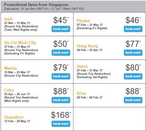 Bán vé máy bay khuyến mãi tiger air bay từ singapore