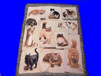 tabby cat blanket throw tapestry