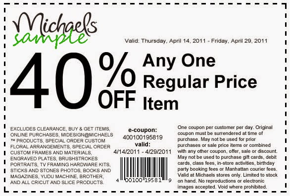 Michaels Crafts Printable Coupon  Off