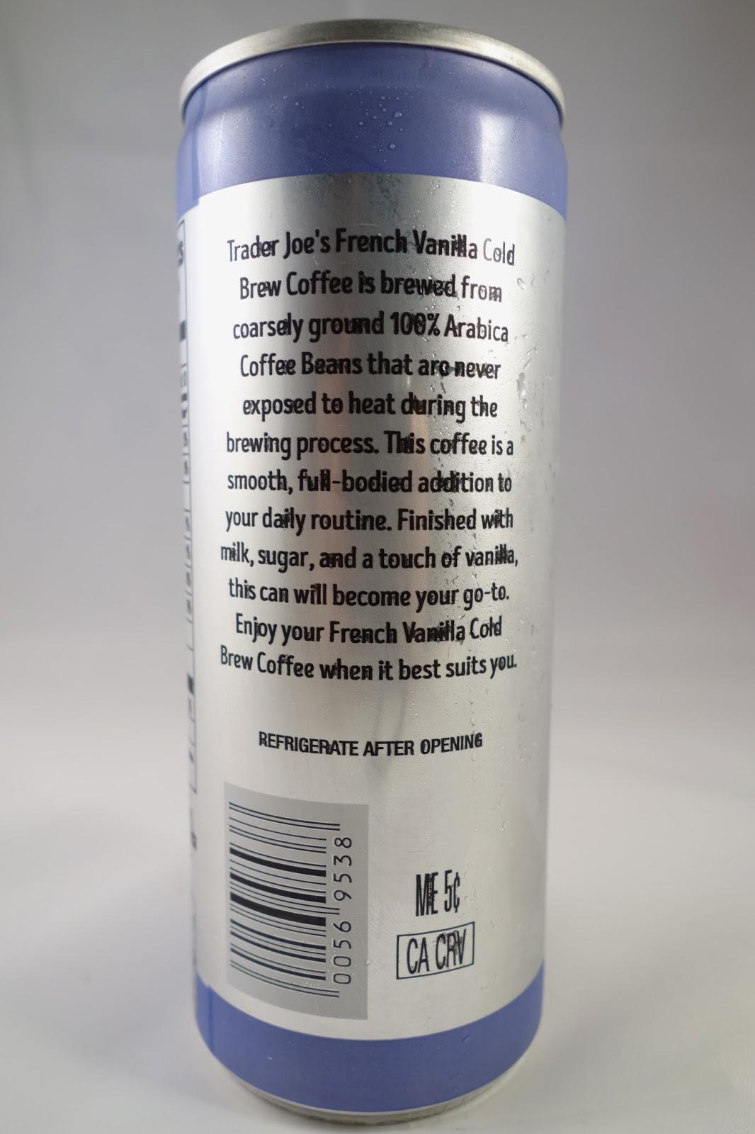 Trader Joe\'s Black Cold Brew Coffee & French Vanilla Cold Brew Coffee