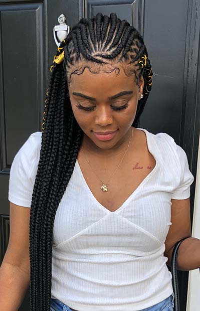 gorgeous fulani tribal braids