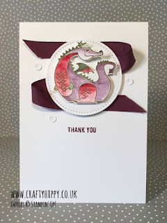 How to make a dragon card. Use the Magical Day stamp set from Stampin' Up!