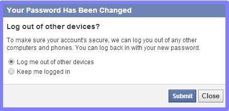 how to change facebook password if forgotten