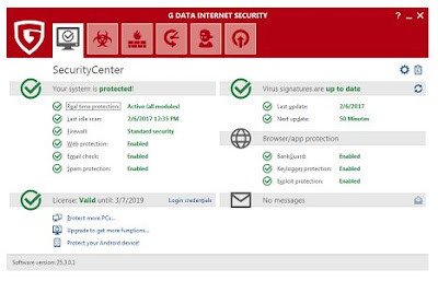 G Data InternetSecurity v25.3