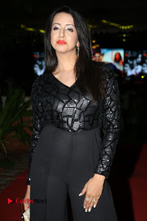 Actress Sanjana Pictures in Black Dress at Happy Birthday Audio Launch  0012.JPG