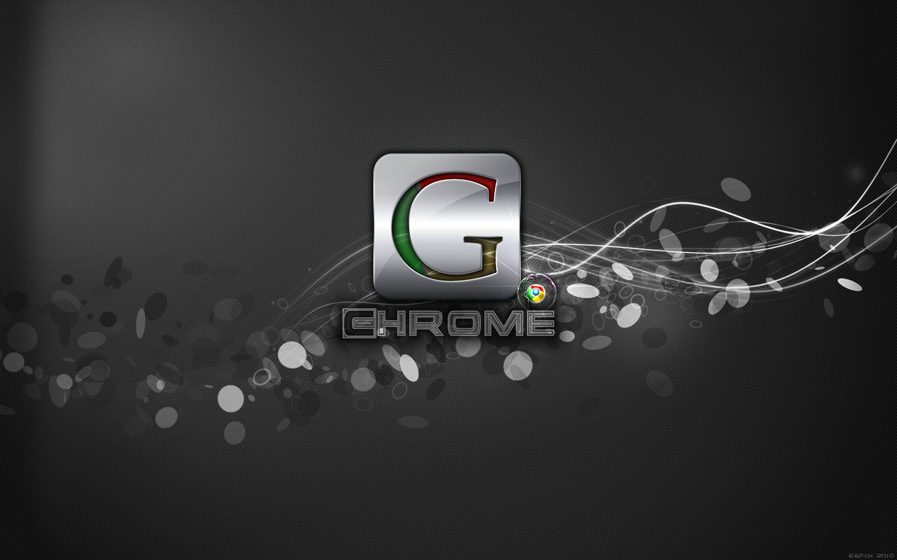 Wallpapers Logo: Wallpapers black Google Chrome logo
