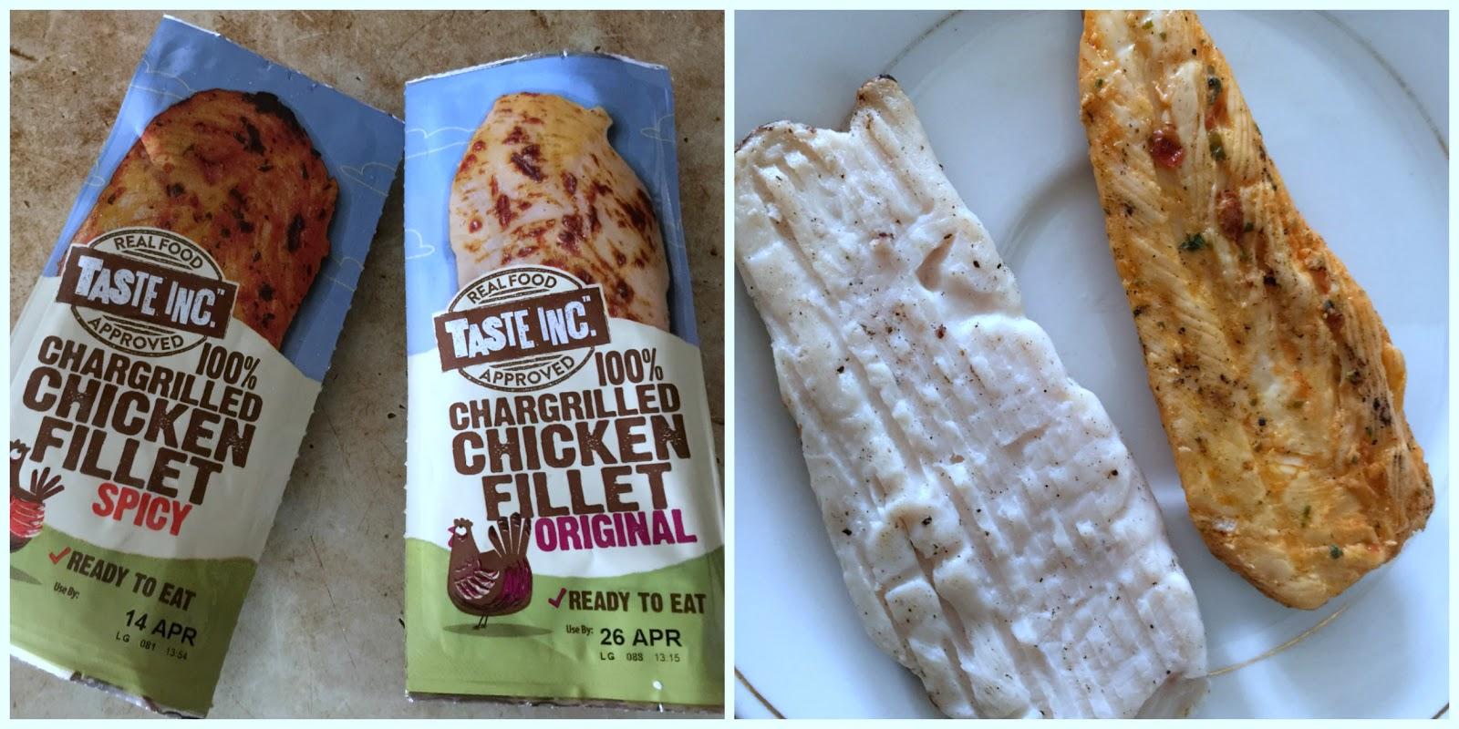 taste inc chicken fillet original and spicy review