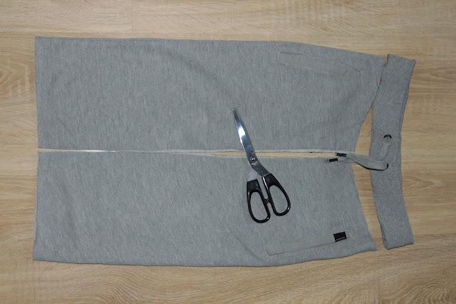 jak przerobić męskie spodnie dresowe