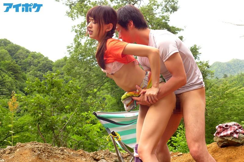 希島あいり在山上打野炮!