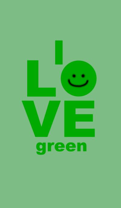 LOVE green color 2