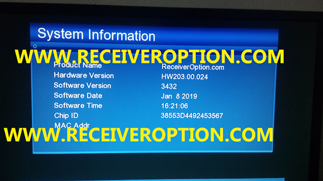 GX6605S HARDWARE VERSION HW204.00.024 POWERVU KEY NEW SOFTWARE