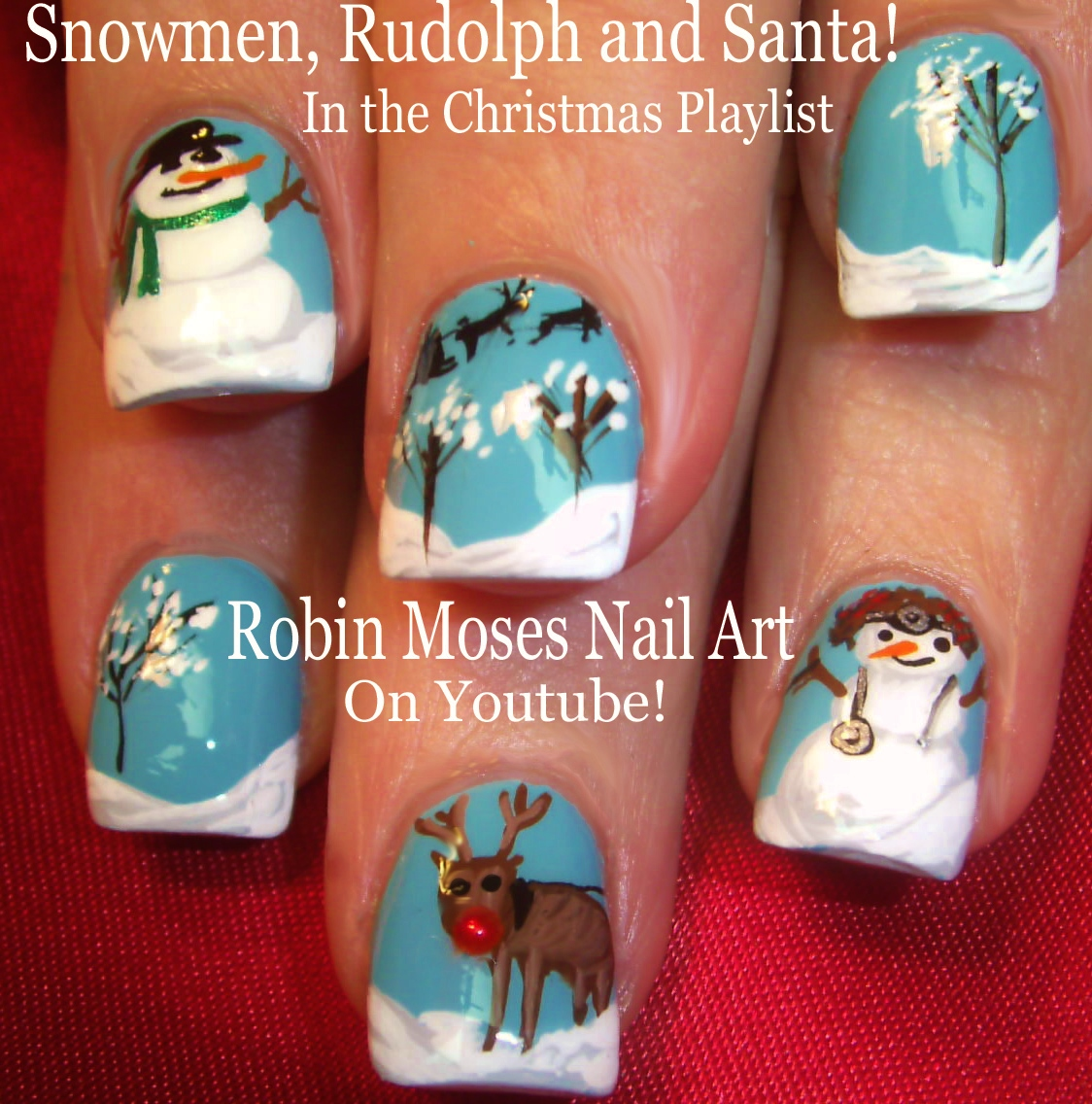 Robin moses nail art more snowman art you can try from my channel in photos below prinsesfo Gallery