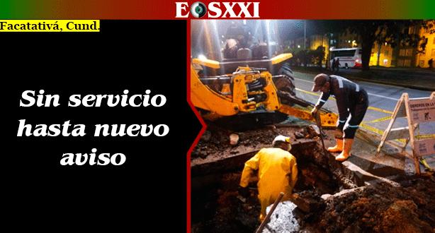 Por daños en dos redes, sin servicio de acueducto en Facatativá