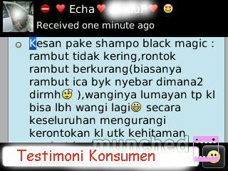 Testi Black Magic Kemiri Shampoo
