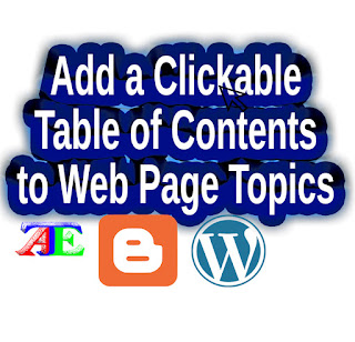 How to Add a Clickable Table of Contents to Posts/Topics on Web Page Without Plugin or Script