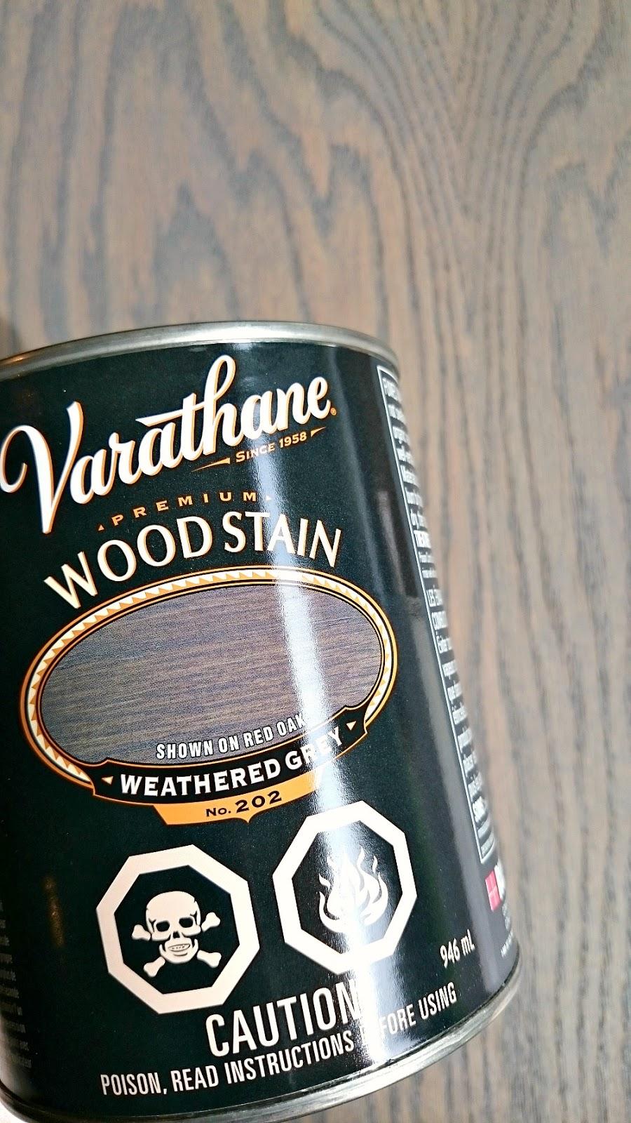 Varathane Wood Stain Weathered Grey on Oak