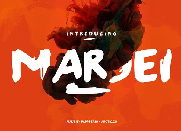 Brush font terbaik 2017 - Marjei – Free Brush Font