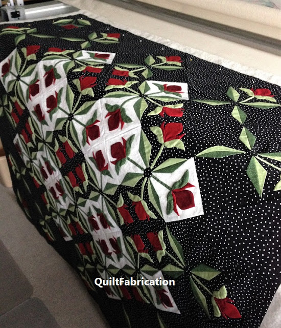 Mediterranean Rose Quilt by QuiltFabrication