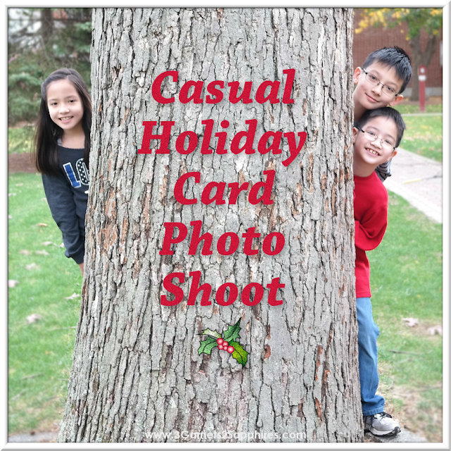 5 tips for taking your own casual holiday card photos of your children.  |  www.3Garnets2Sapphires.com