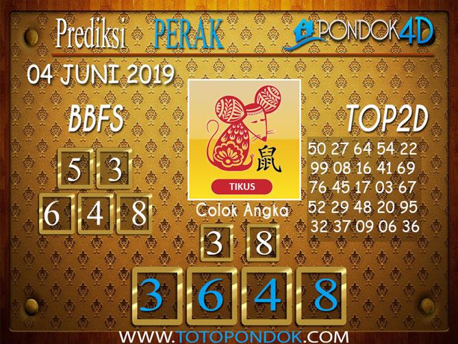 Prediksi Togel PERAK PONDOK4D 04 JUNI 2019
