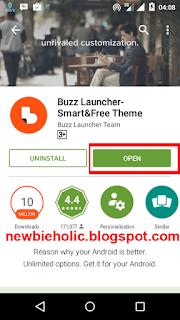 Cara Menggunakan Tema NARUTO di Semua HP Android download buzz launcher