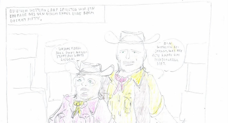 Wild West bondage comics: Bound at a Western Larp