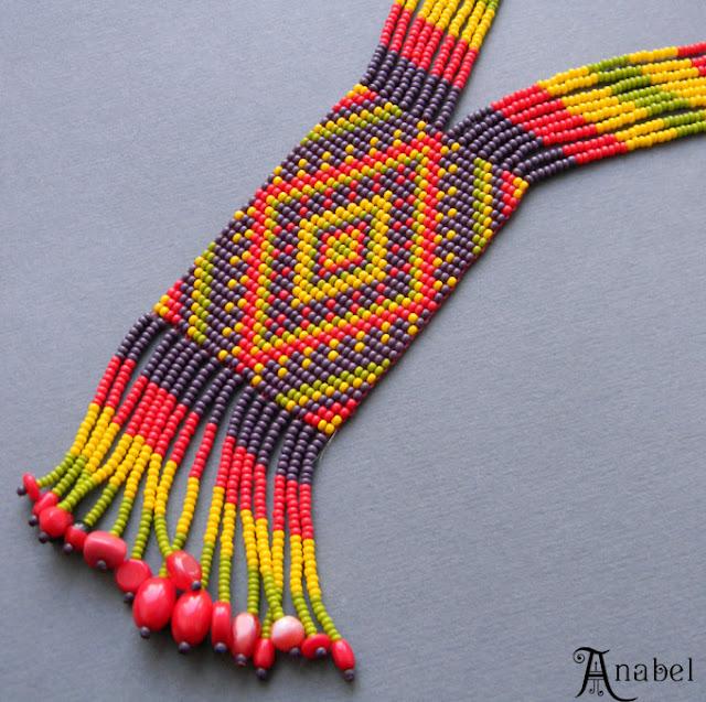 купить гердан из бисера ручной работы от анабель этно бохо стиль