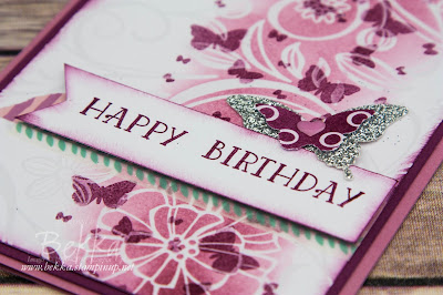 Pretty Spring Butterfly Birthday Card featuring the Perpetual Birthday Stamps from Stampin' Up! UK.  Buy Stampin' Up! UK Here