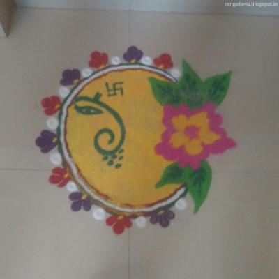 Ganpati Bappa Rangolis