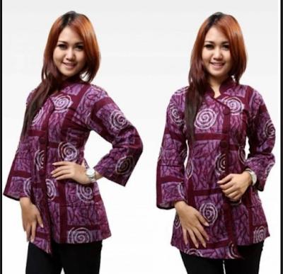 Model Baju Batik Kerja Kantoran Lengan Panjang