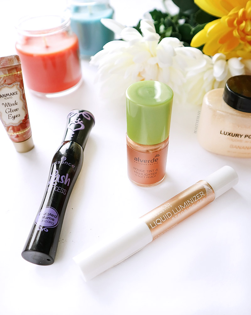 Alverde Rouge Tint and Highlighter, Canmake Wink Glow Eyes and Catrice Strobing Pen Review
