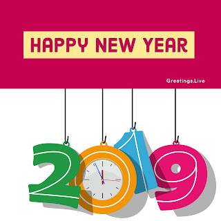 2019 HAPPY New Year with Clock Time 11: 55 Pm Dec 31st