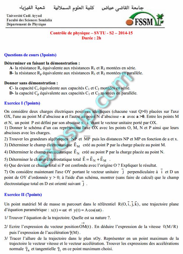 mecanique de fluide exercice corrige pdf