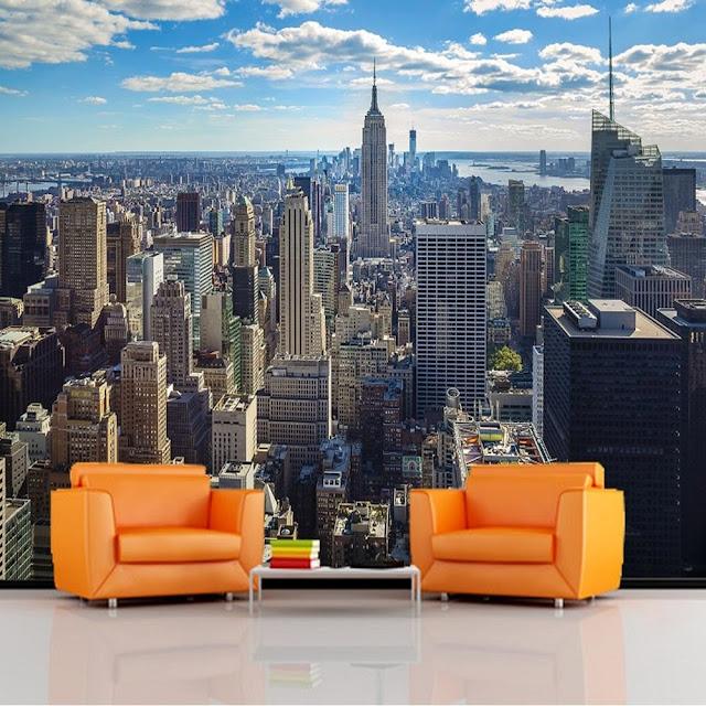 New York Wall Mural Manhattan View