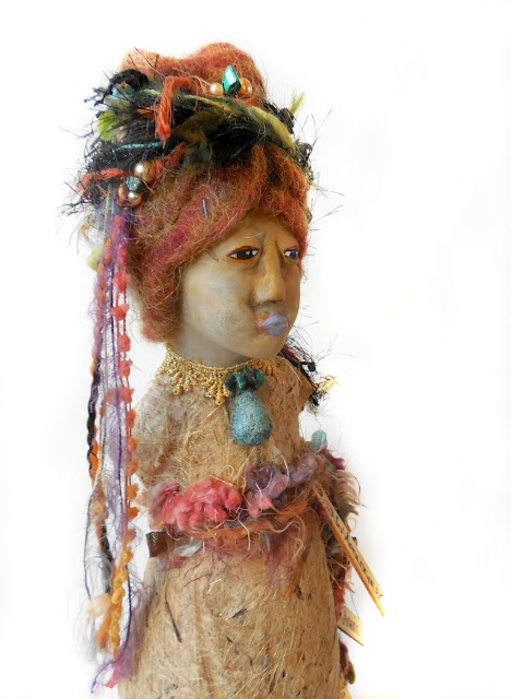 No Apologies for Being my Authentic Self Gourd and Clay Spirit Doll