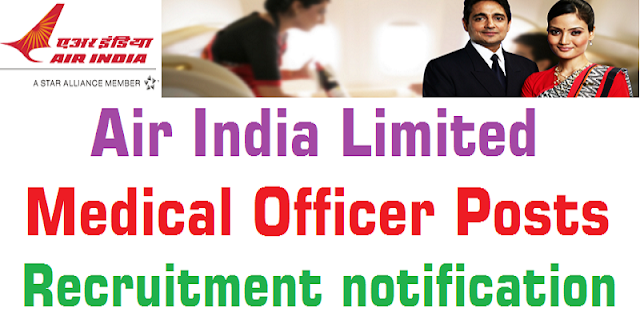 Air India Limited,Medical Officers,Recruitment notification